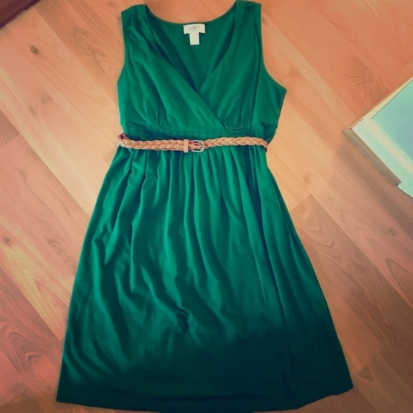 half off rich and magnificent official store LOFT Emerald Green Sundress
